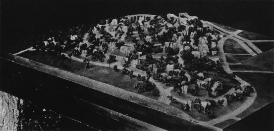 Model of Aspinwall Hill as Executed