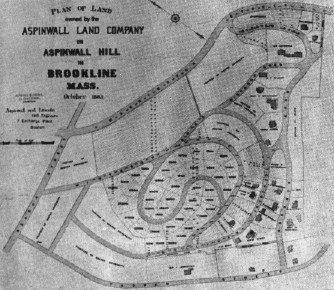 Figure 4. Plan for Aspinwall Hill - 1885.