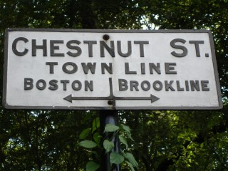 Chestnut St - Town Line Sign
