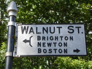 Walnut St Sign with Directions